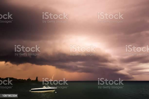 Photo of Lightning and storm clouds, Meadow Lake Provincial Park, Saskatchewan