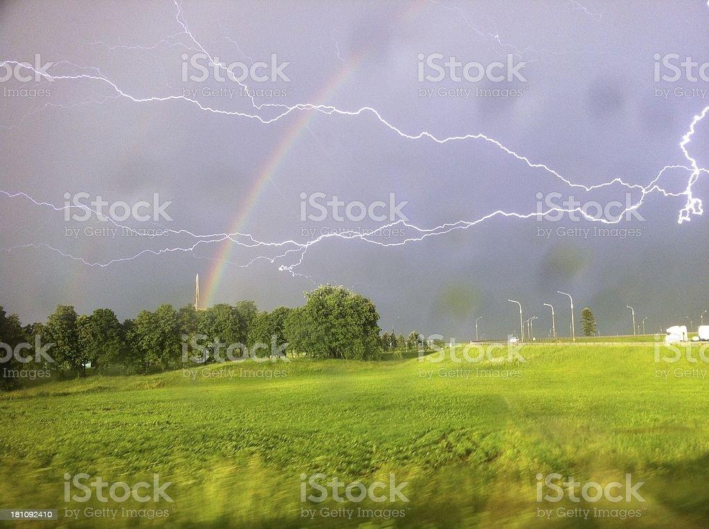 lightning and thunder stock photo