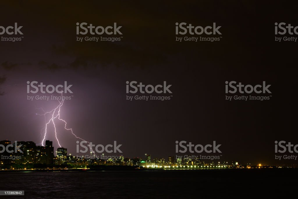 Lightning at Rio de Janeiro royalty-free stock photo