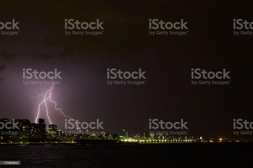 Lightning at Rio de Janeiro stock photo