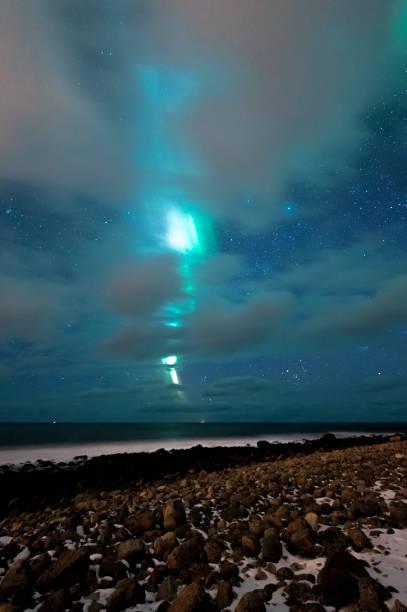 Lightning Auroras stock photo