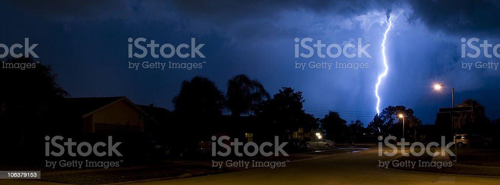 Lightning Banner royalty-free stock photo