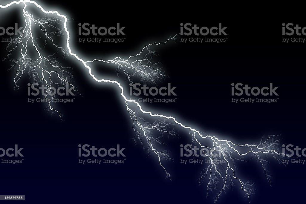 lightning - big bolt stock photo