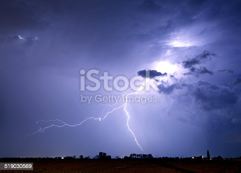 istock Lightning bolt and storm 519030569