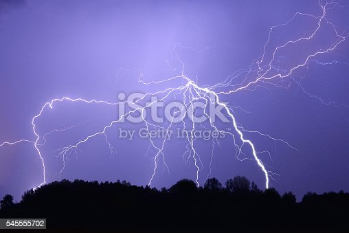 503731700 istock photo Lightning bolt at night 545555702