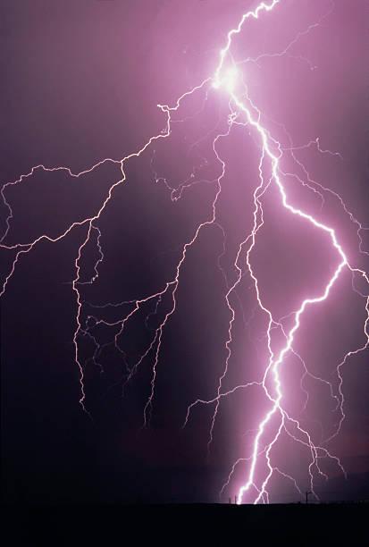 Lightning Bolt Strike stock photo