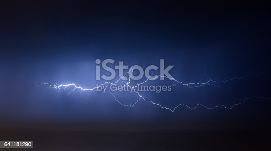 istock lightning bolts reflection over the sea 641181290