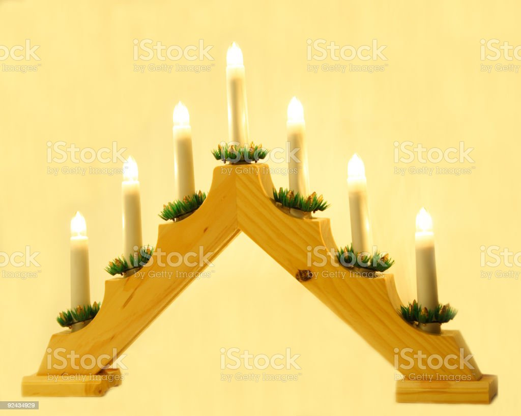 lightning candles royalty-free stock photo