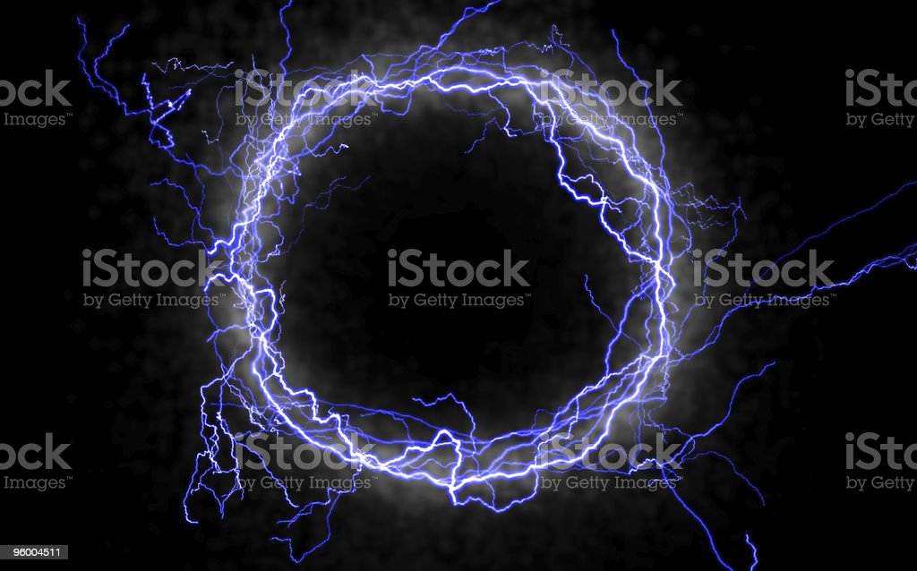 Lightning Circle stock photo