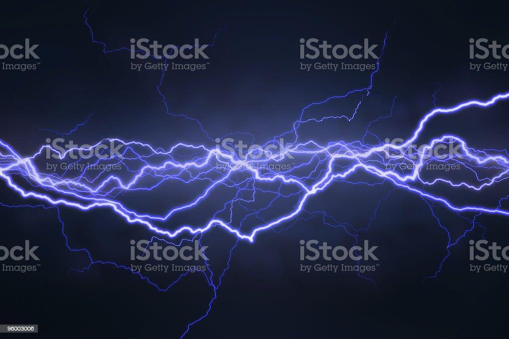 Lightning Field royalty-free stock photo