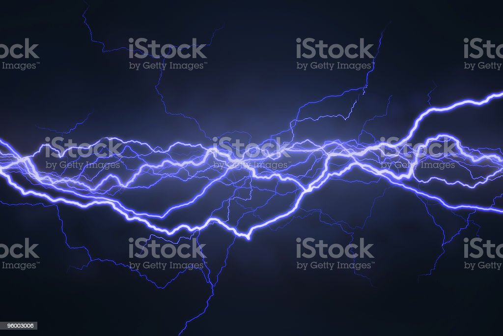 Lightning Field stock photo