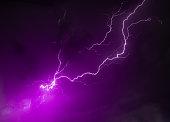 Lightning and Thunder on a cloudy rainy night