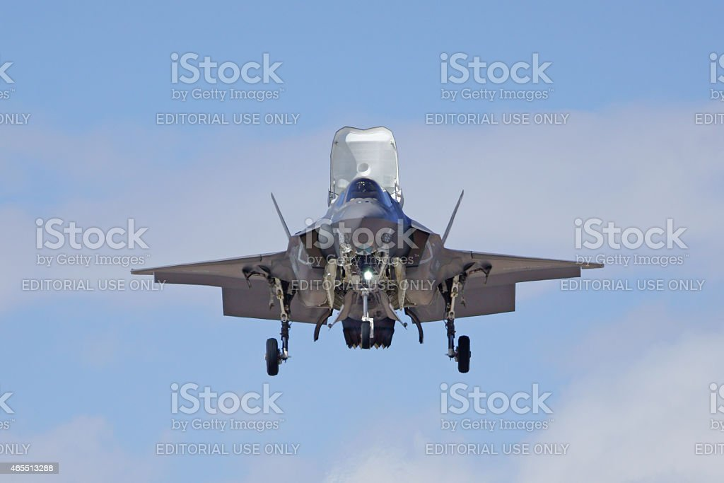 F - 35 Lightning Jet en 2015 Yuma Air Show - foto de stock