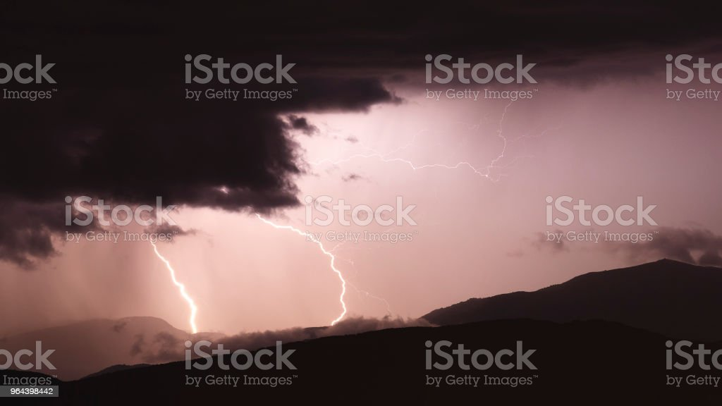 Lightning Mountain - Royalty-free Berg Stockfoto