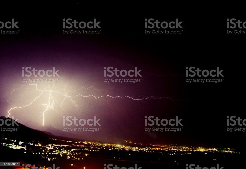 Lightning On Denizli, Turkey royalty-free stock photo