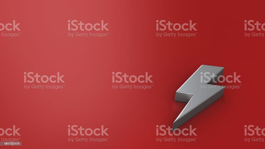 Lightning on red royalty-free stock photo
