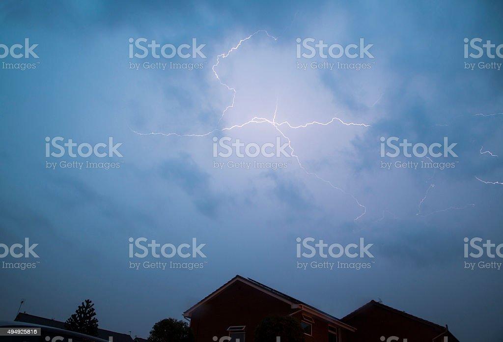 Lightning Overhead stock photo