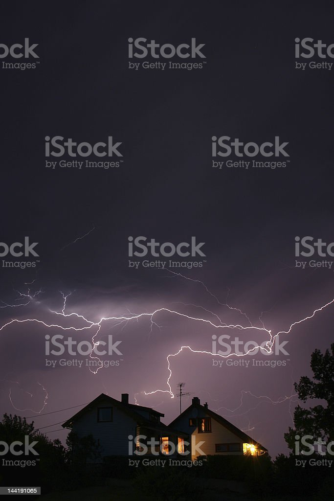 lightning - Royalty-free Building Exterior Stock Photo