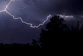 Lightning Bolt as it shoots across the southern sky