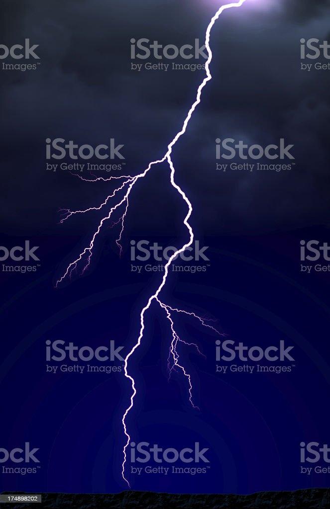 Lightning! royalty-free stock photo