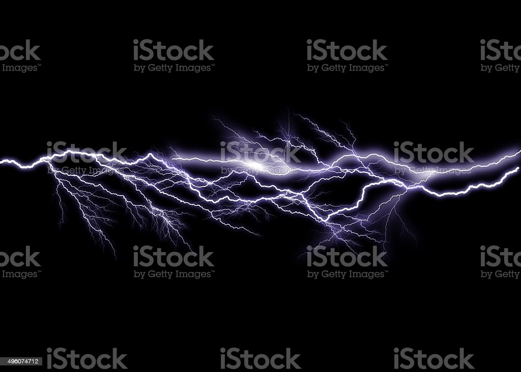 Lightning stock photo