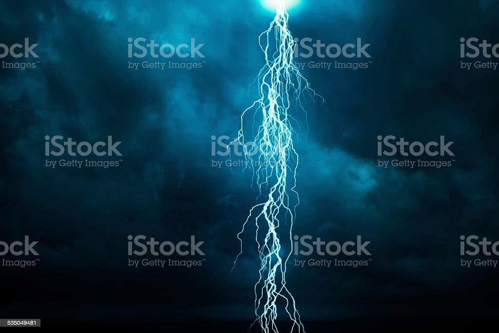 Lightning stock photo