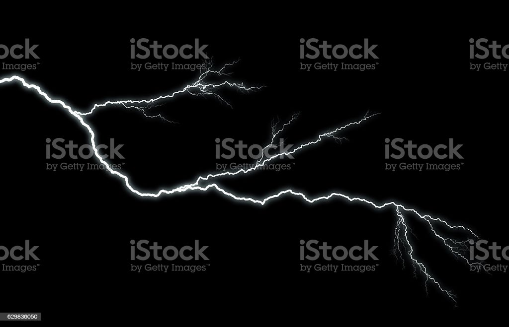 Lightning piercing night sky​​​ foto
