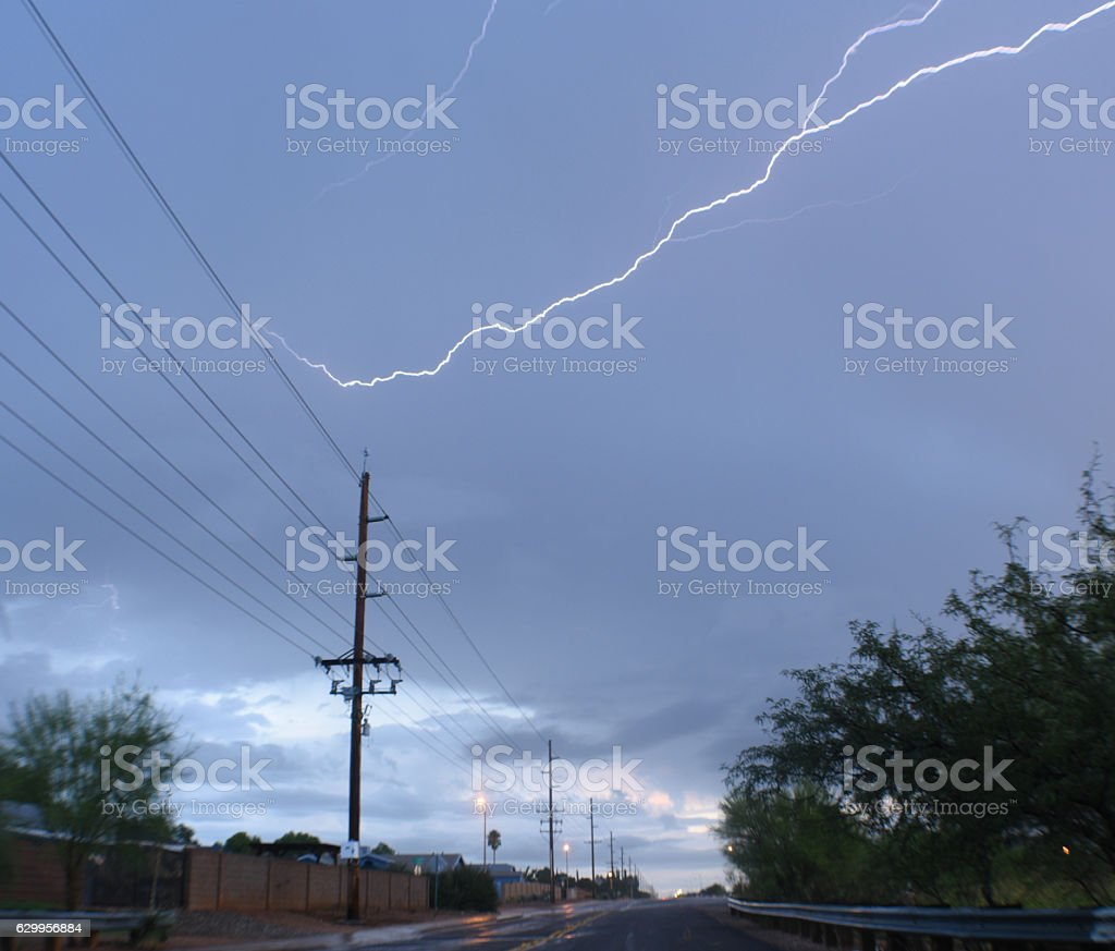 Lightning Power stock photo