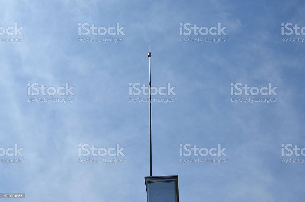 Lightning Rod on a Building – Foto