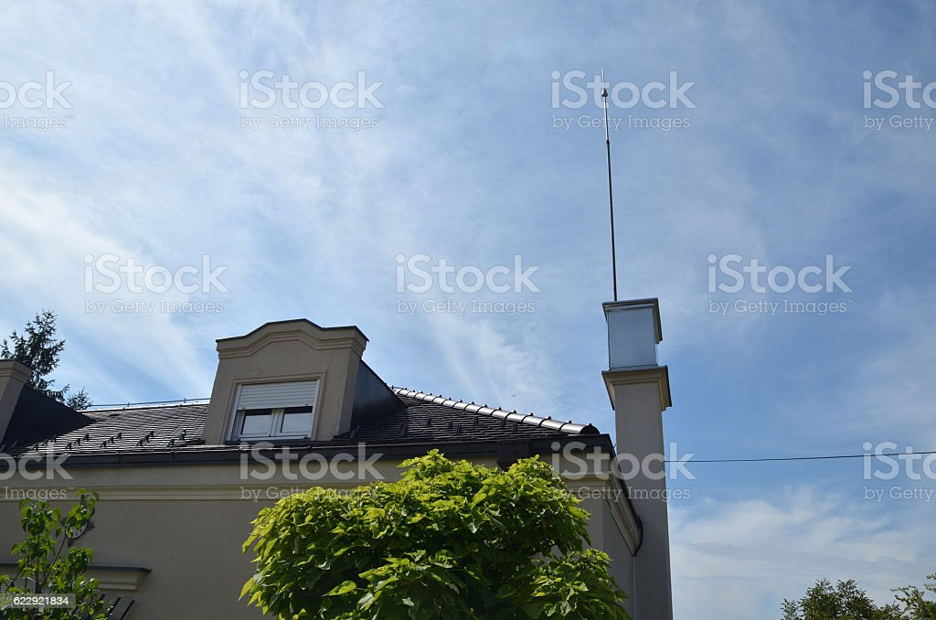 Lightning Rod on Top of a Building – Foto