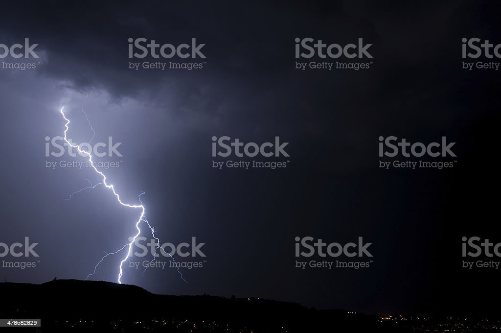Lightning Stike from the skies royalty-free stock photo