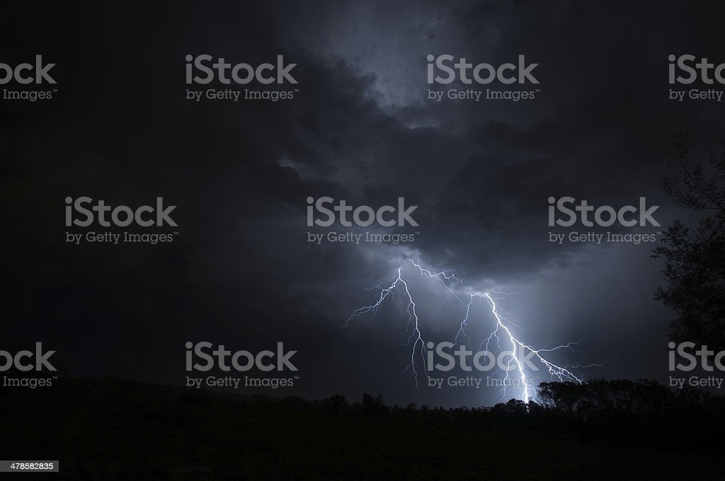 Lightning Stiking Ground royalty-free stock photo