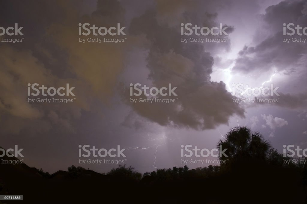 Lightning stirke stock photo