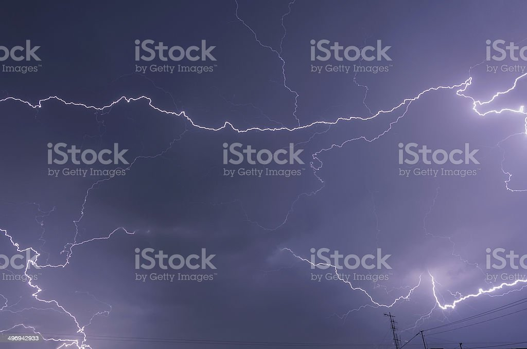lightning storm clouds sky royalty-free stock photo