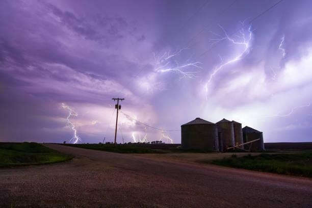 Tempête de foudre dans l'Illinois rural - Photo
