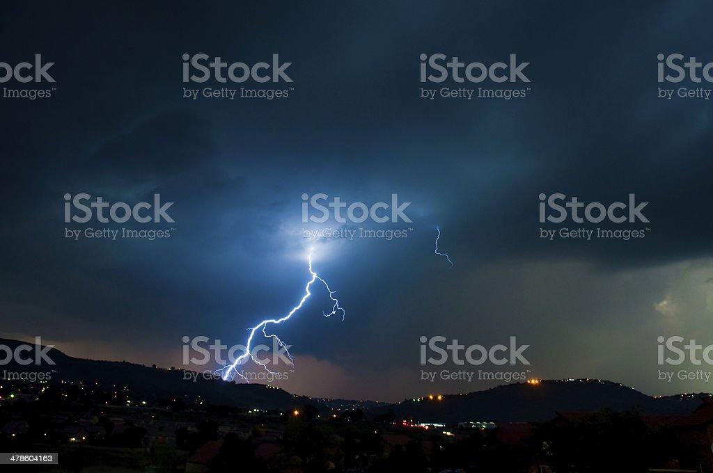Lightning Storm on the Ridge royalty-free stock photo