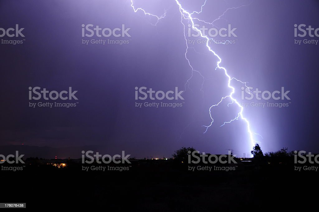 Lightning Storm. Tucson, Arizona royalty-free stock photo