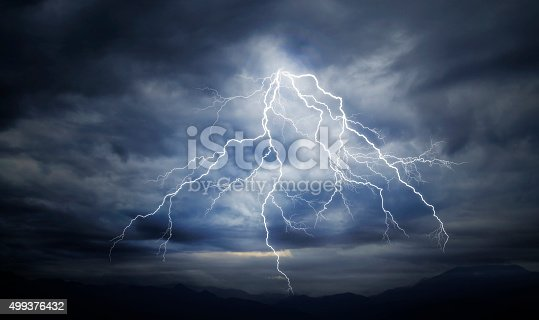 503731700 istock photo lightning strike on the cloudy sky 499376432