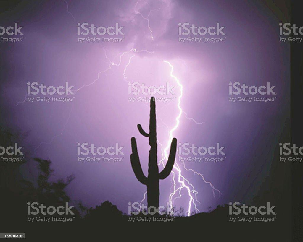 Lightning strikes 2 royalty-free stock photo