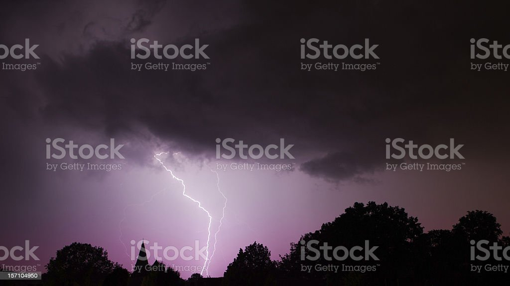 Lightning Strikes stock photo