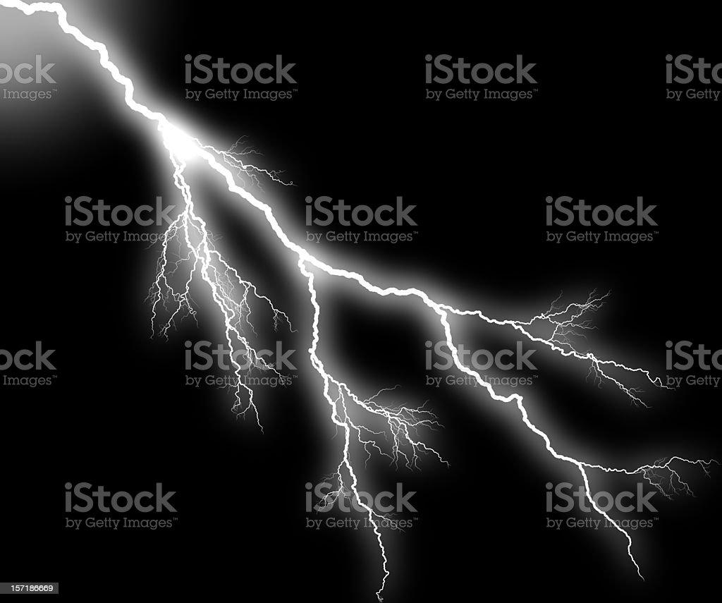 Lightning Strikes royalty-free stock photo
