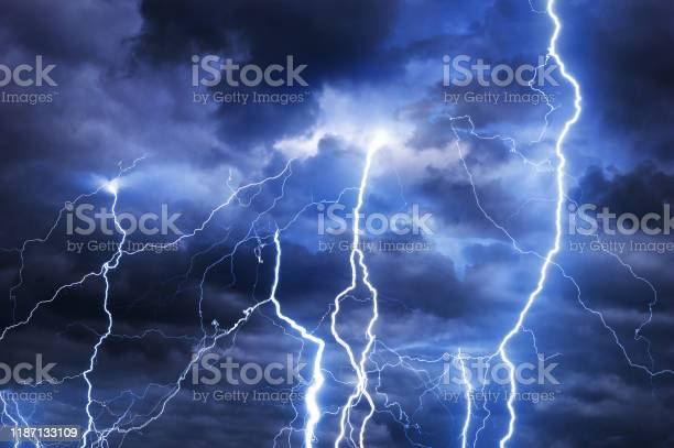 Photo of Lightnings during summer storm