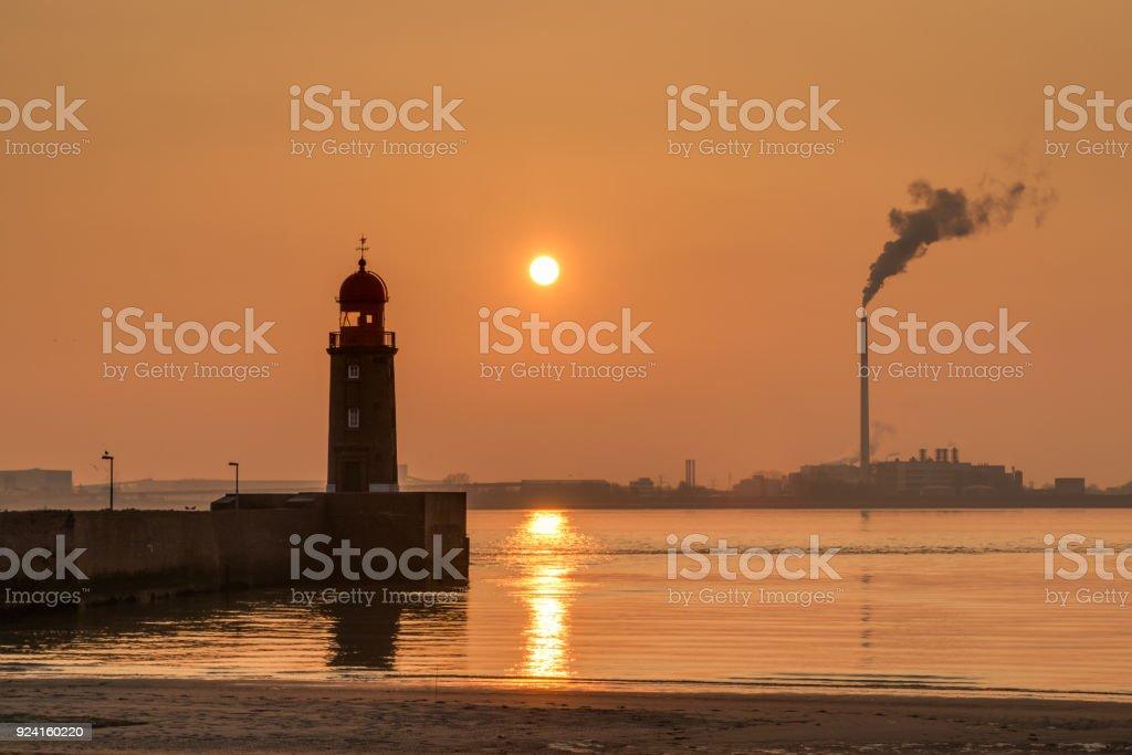 Lightouse in Bremerhaven stock photo