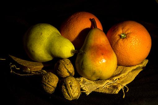 Still life with per and Orange