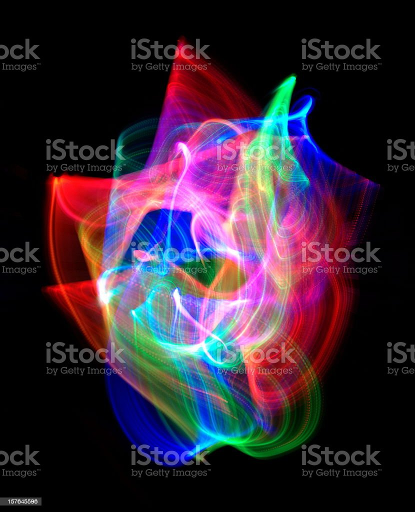 lightpainting royalty-free stock photo