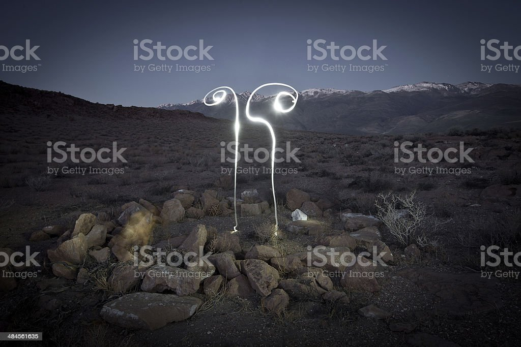 lightpainting stock photo