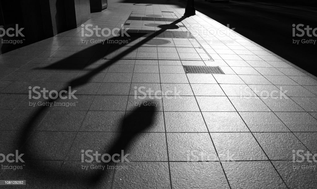 Lightpost and shadow royalty-free stock photo