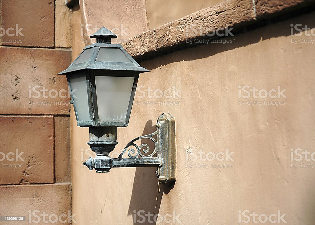 Lightpost in wall royalty-free stock photo