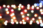 blurred lights texture at night