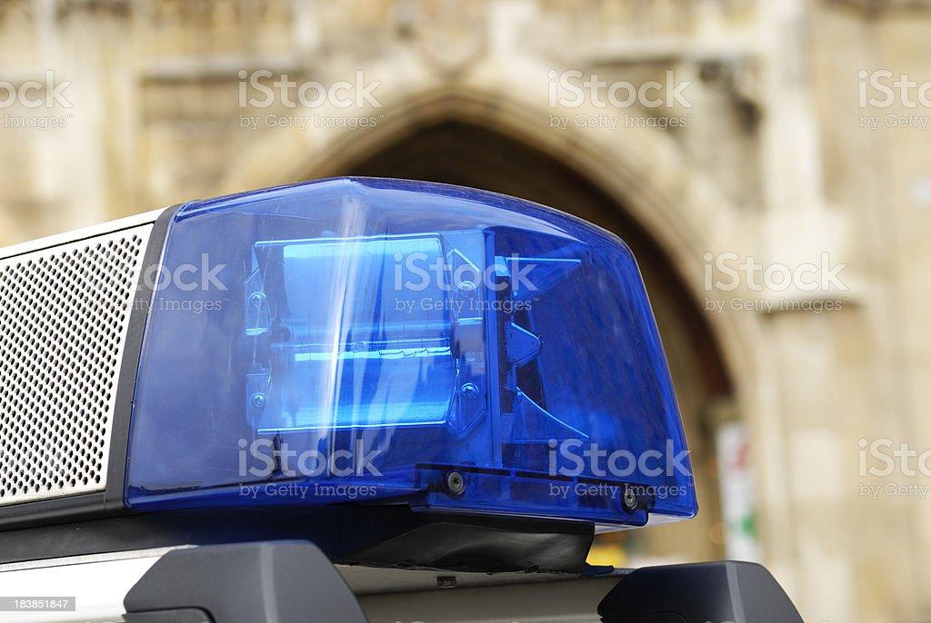 Lichter und Sirene von Polizeiauto - Lizenzfrei Auto Stock-Foto